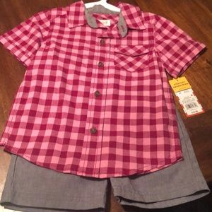 NWT Boy 3T Cat & Jack Short Set